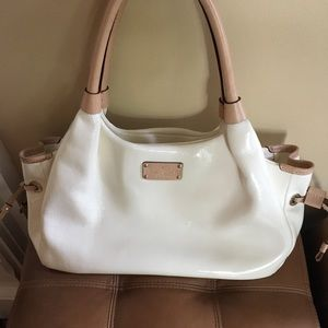 Kate Spade Ivory Patent Leather Stevie Purse